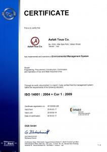 ISO 14001 : 2004 + Cor 1 : 2009