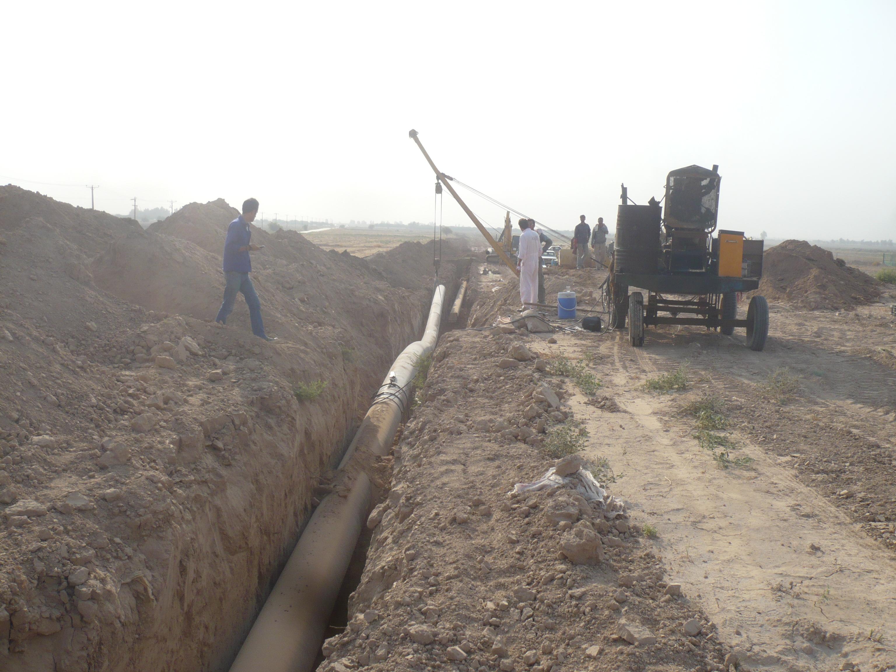 احداث خط لوله انتقال نفت، عبدالخان تا اهواز